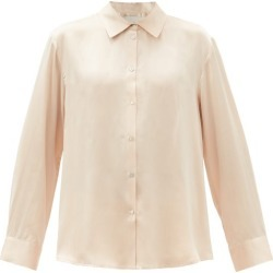 Asceno - London Silk Pyjama Top - Womens - Nude found on MODAPINS from MATCHESFASHION.COM - AU for USD $250.47