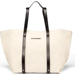 Jil Sander - Leather-trimmed Canvas Tote Bag - Mens - Light Beige found on Bargain Bro UK from Matches UK