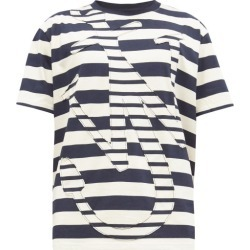 JW Anderson - Anchor-appliqué Cotton-jersey T-shirt - Mens - Navy White found on MODAPINS from Matches UK for USD $225.50