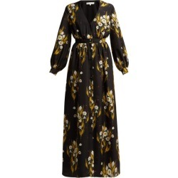 Borgo De Nor - Francesca Floral-print Crepe Dress - Womens - Black Print found on Bargain Bro India from Matches Global for $294.00