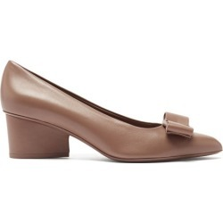 Salvatore Ferragamo - Viva Point-toe Leather Pumps - Womens - Brown found on Bargain Bro UK from Matches UK