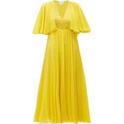 Giambattista Valli - Butterfly-sleeve Silk-chiffon Midi Dress - Womens - Yellow found on MODAPINS from Matches UK for USD $985.35