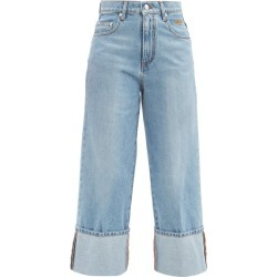 MSGM - Cropped Turn-up Jeans - Womens - Denim found on Bargain Bro UK from Matches UK