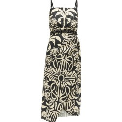 Johanna Ortiz - Stylised Muse Floral-print Linen-blend Midi Dress - Womens - Cream Multi found on MODAPINS from MATCHESFASHION.COM - AU for USD $497.33
