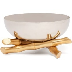 L'objet - Bambou Medium 24kt Gold & Stainless Steel Bowl - Silver found on Bargain Bro UK from Matches UK