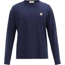 Maison Kitsuné - Fox Head-patch Cotton-jersey T-shirt - Mens - Navy found on Bargain Bro from Matches UK for £101