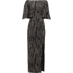 Adriana Iglesias - Taylor Lamé-striped Silk-blend Dress - Womens - Black Gold found on MODAPINS from Matches Global for USD $568.00