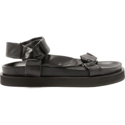 Jil Sander - Velcro-strap Leather Sandals - Mens - Black found on Bargain Bro UK from Matches UK