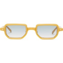 Jacques Marie Mage - Astaire Square Acetate Sunglasses - Mens - Yellow found on MODAPINS from Matches Global for USD $715.00