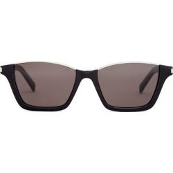 Saint Laurent - Rectangular Acetate Sunglasses - Mens - Black found on Bargain Bro from Matches Global for USD $330.60