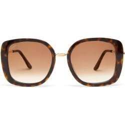 Cartier Eyewear - Trinity Square Tortoiseshell-acetate Sunglasses - Womens - Tortoiseshell found on MODAPINS from Matches Global for USD $995.00