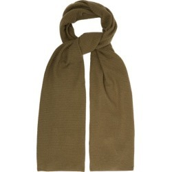 Allude - Knitted Cashmere Scarf - Womens - Khaki found on MODAPINS from Matches UK for USD $166.88
