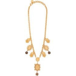 Dolce & Gabbana - Charm & Faux-pearl Necklace - Womens - Gold found on Bargain Bro from Matches UK for £679