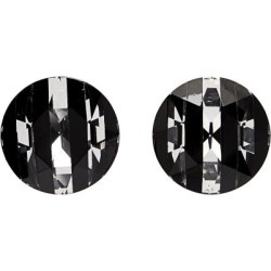 Saint Laurent - Round-cut Crystal Clip Earrings - Womens - Black found on Bargain Bro UK from Matches UK