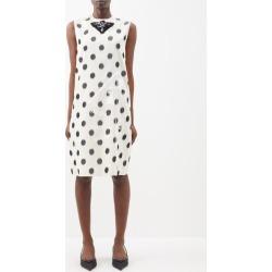 Prada - Polka-dot Silk-taffeta Shift Dress - Womens - Cream Print found on Bargain Bro UK from Matches UK