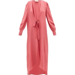 Adriana Degreas - Tie-front Silk Robe - Womens - Pink found on MODAPINS from Matches Global for USD $600.00