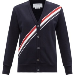 Thom Browne - Tricolour-print Cotton Cardigan - Womens - Navy found on Bargain Bro India from MATCHESFASHION.COM - AU for $1488.74