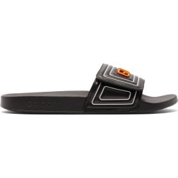 Gucci - Claquettes en cuir et caoutchouc à logo found on Bargain Bro Philippines from matchesfashion.com fr for $637.00