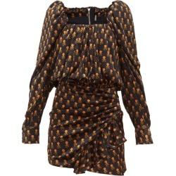 Dodo Bar Or - Robe courte en velours à imprimé floral Michel
