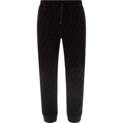 Fendi - Flocked-logo Jersey Track Pants - Mens - Black found on Bargain Bro UK from Matches UK
