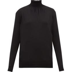 Prada - Shirred-neck Wool Sweater - Womens - Black found on Bargain Bro UK from Matches UK