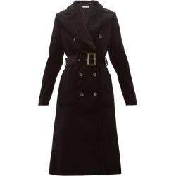 Bella Freud - Ivan Shearling-collar Cotton-corduroy Coat - Womens - Black
