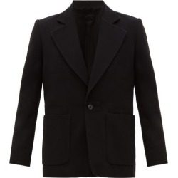Ann Demeulemeester - Single-breasted Wool-blend Twill Suit Jacket - Mens - Black found on MODAPINS from Matches Global for USD $471.00
