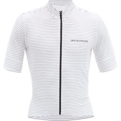 Café Du Cycliste - Francine Zipped Technical-jersey Cycling Top - Mens - White Multi found on Bargain Bro India from MATCHESFASHION.COM - AU for $173.21