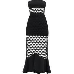 David Koma - Robe bustier en cady et tulle à triangles found on MODAPINS from matchesfashion.com fr for USD $1201.20