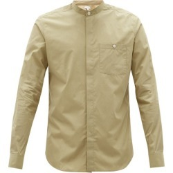 Caruso - Collarless Cotton-poplin Shirt - Mens - Beige found on MODAPINS from Matches UK for USD $359.64