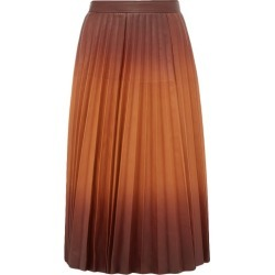 Givenchy - Degradé Pleated-leather Midi Skirt - Womens - Brown Multi found on Bargain Bro Philippines from MATCHESFASHION.COM - AU for $3053.02
