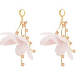 Marni - Flower-drop Crystal-embellished Earrings - Womens - Light Pink found on Bargain Bro UK from Matches UK