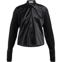 Balenciaga - Point-collar Satin Blouse - Womens - Black found on Bargain Bro India from Matches Global for $315.00