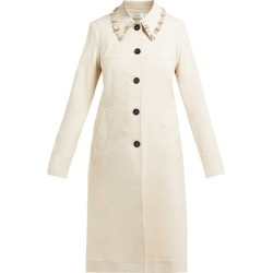 Wales Bonner - Crystal-embellished Cotton-blend Coat - Womens - Beige