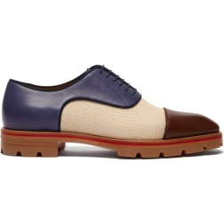 Christian Louboutin - Chaussures oxford en toile et cuir Hubertus found on Bargain Bro Philippines from matchesfashion.com fr for $1163.50
