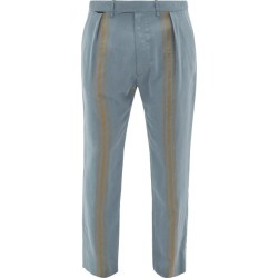 Ann Demeulemeester - Relaxed Striped Trousers - Mens - Blue found on MODAPINS from Matches Global for USD $546.00
