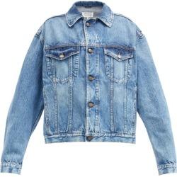 Maison Margiela - Washed Recycled-denim Jacket - Womens - Denim found on Bargain Bro UK from Matches UK