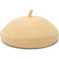 Lola Hats - English Muffin Raffia Beret - Womens - Beige