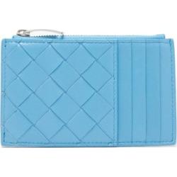 Bottega Veneta - Intrecciato Leather Cardholder - Womens - Blue found on Bargain Bro Philippines from Matches Global for $450.00