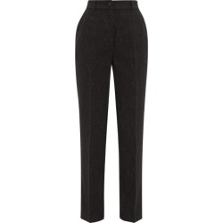 Dolce & Gabbana - High-rise Floral-jacquard Suit Trousers - Womens - Black found on Bargain Bro UK from Matches UK