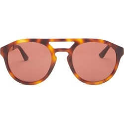 Gucci - Aviator Tortoiseshell-acetate And Metal Sunglasses - Mens - Brown found on Bargain Bro from Matches Global for USD $285.00