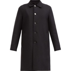 Harris Wharf London - Single-breasted Point-collar Felted-wool Coat - Mens - Black found on MODAPINS from Matches Global for USD $725.00