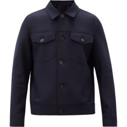 Harris Wharf London - Patch-pocket Felted Merino-wool Jacket - Mens - Navy found on MODAPINS from Matches Global for USD $423.00