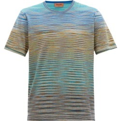 Missoni - Striped Cotton T-shirt - Mens - Blue Multi found on Bargain Bro UK from Matches UK