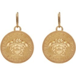 Versace - Medusa Coin Brass Earrings - Womens - Gold found on Bargain Bro UK from Matches UK