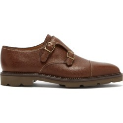 John Lobb - William Monk-strap Leather Shoes - Mens - Dark Brown found on MODAPINS from Matches Global for USD $1495.00