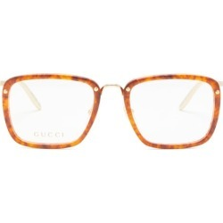 Gucci - Square Tortoiseshell-acetate And Metal Glasses - Mens - Clear found on Bargain Bro from Matches Global for USD $364.80