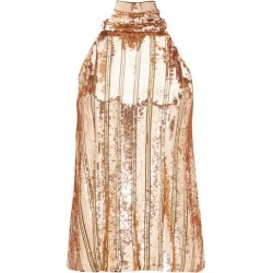 Galvan - Stardust Halterneck Sequinned Top - Womens - Bronze found on MODAPINS from MATCHESFASHION.COM - AU for USD $218.65