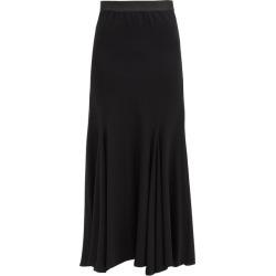Ann Demeulemeester - Asymmetrical Wool-blend Midi Skirt - Womens - Black found on MODAPINS from MATCHESFASHION.COM - AU for USD $1429.73