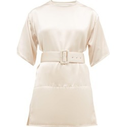 Jil Sander - Padded-hem Satin Top - Womens - Light Pink found on MODAPINS from Matches Global for USD $414.00